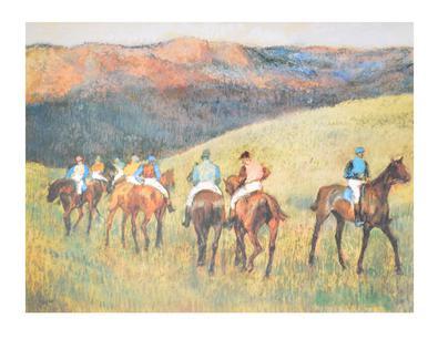 Degas edgar rennpferde in der landschaft 44213 large