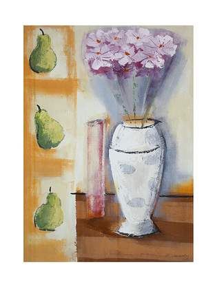 Francoise Conzales Pears and Flowers