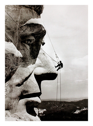 Corbis / Bettmann Climbing Lincoln (Mount Rushmore)