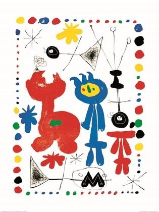 Joan Miro Personnage et oiseaux