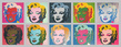 Warhol andy marilyn monroe tableau medium