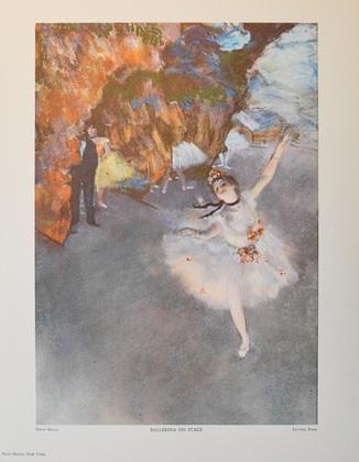 Edgar Degas Ballerina auf der Buehne
