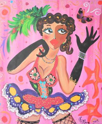 Ingrid B. Miss pink butterfly