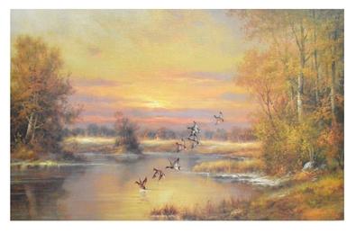 C. Pila Einfliegende Enten