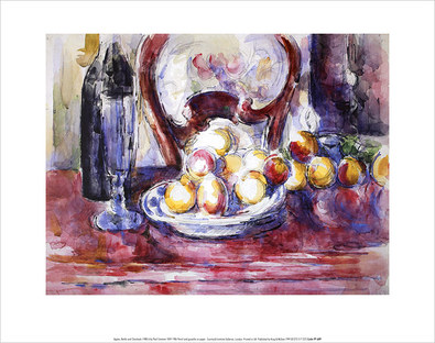Paul Cezanne Apples, Bottle and Chair Back