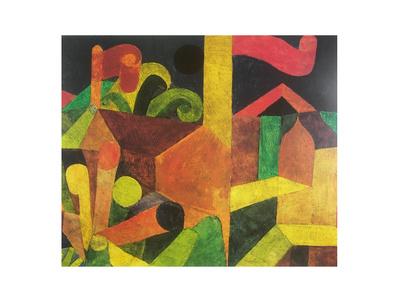 Paul Klee Landschaft mit Fahnen