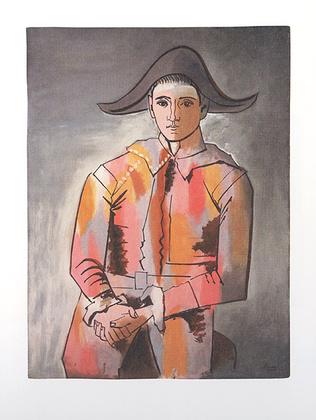 Pablo Picasso Arlequin les mains Croisee