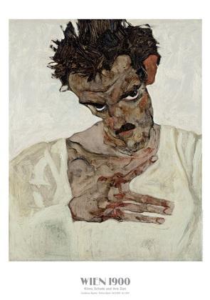 Egon Schiele Selbstbildnis mit gesenktem Kopf