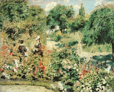 Pierre Auguste Renoir Der Garten von Fontenay