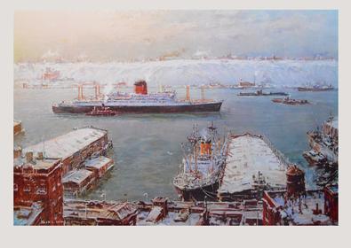Jack Lorimer Gray Hafen im Winter