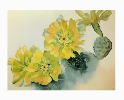 Georgia O Keeffe Gelber Kaktus