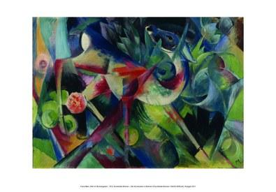 Franz Marc Reh im Blumengarten