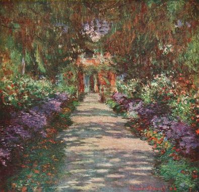 Claude Monet Gartenweg in Giverny