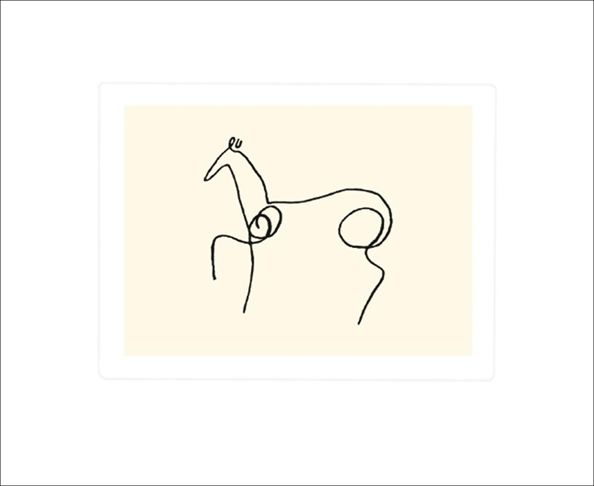 pablo picasso pferd poster bild siebdruck kunstdruck 50x60cm ebay. Black Bedroom Furniture Sets. Home Design Ideas