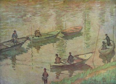 Claude Monet Angler an der Seine bei Poissy