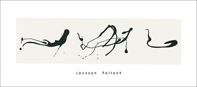 Jackson Pollock Zeichnung in Tropftechnik, 1960