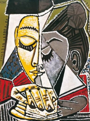 Pablo Picasso Kopf einer lesenden Frau