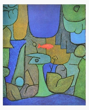 paul klee unterwassergarten poster kunstdruck bei. Black Bedroom Furniture Sets. Home Design Ideas