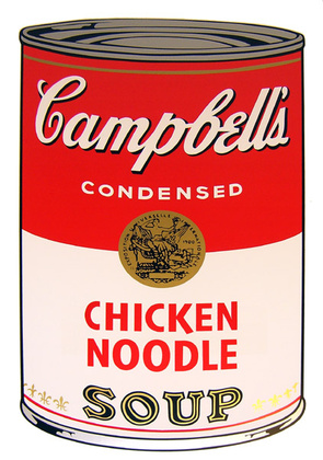 Andy Warhol Campbells Soup - Chicken Noodle