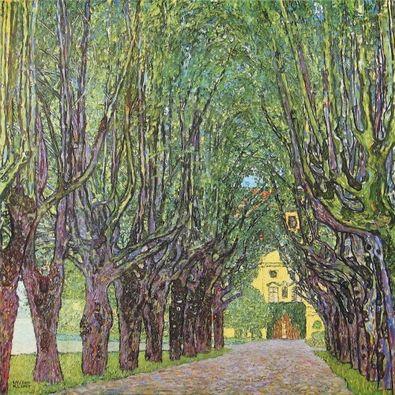 Gustav Klimt Allee im Park vor Schloss Kammer am Attersee  1912