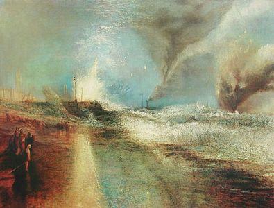 William Turner Feuerwerk und blauer Lichtschein