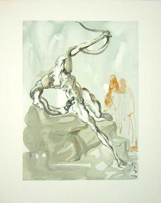 Salvador Dali Die Diebe - Die Hoelle 24. Gesang - Die goettliche Komoedie
