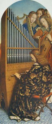 Jan van Eyck Die musizierenden Engel