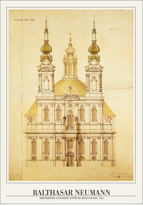 Balthasar Neumann Abteikirche Langheim, 1742