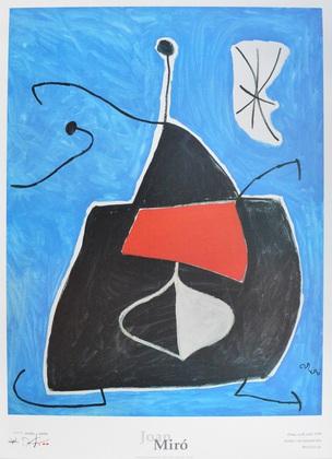 Joan Miro Dona ocell estel 1978