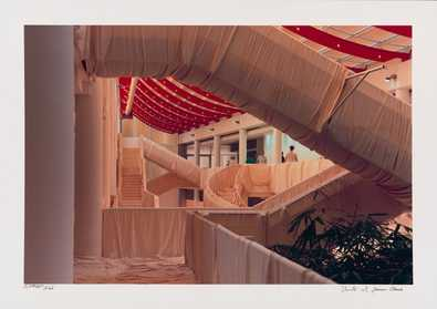 Christo und Jeanne-Claude Museum Wuerth Wrapped Stairs, handsign, num.
