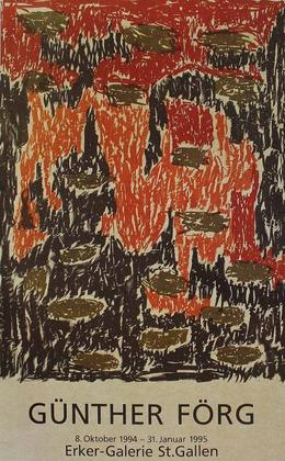 Guenther Foerg Erker Galerie - Ausstellungsplakat