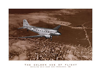 Margaret Bourke White Mainline DC 3 over San Francisco