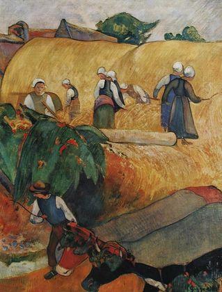 Paul Gauguin Bei der Ernte