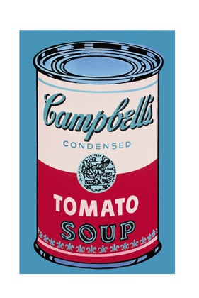 Andy Warhol Campbell's Soup Can 1965 pink & red