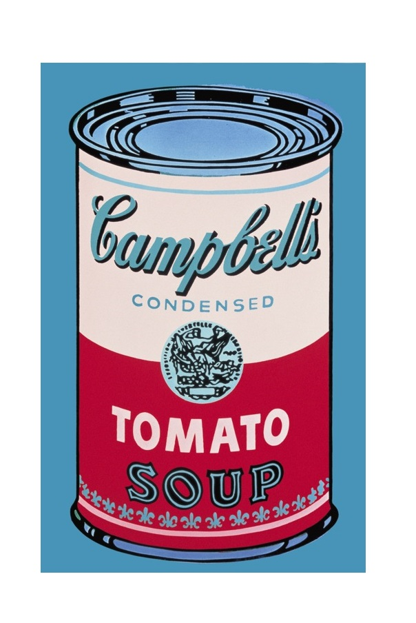 andy warhol campbell 39 s soup can 1965 pink red poster kunstdruck bei. Black Bedroom Furniture Sets. Home Design Ideas