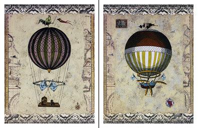 Jan Weiss 2er Set 'Aerostat I + 2' (Ballon)