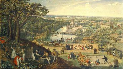 Lucas Valckenborgh Herbstlandschaft (Grossfomat)