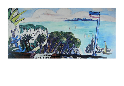 Max Beckmann Grosse Rivieralandschaft