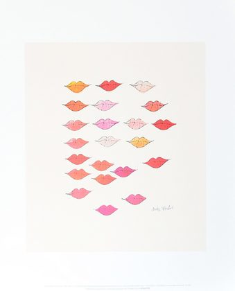Andy Warhol Stamped Lips c. 1959