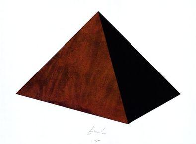 Juergen Freund Pyramide Rost und Schwarz