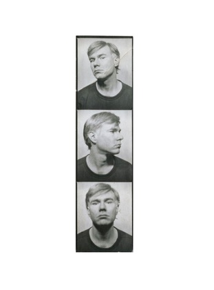 Andy Warhol Self Portrait 1964 photobooth pictures