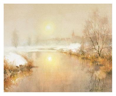 Kurt Ettischer Dorf im Winter (klein)