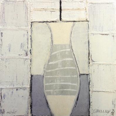 Juliane Sommer Squares with Vase (handsigniert)