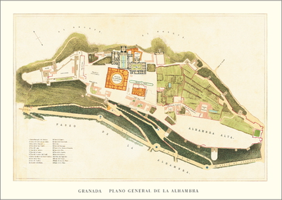 Goury Jones Alhambra, Lageplan