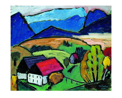 Gabriele Muenter Blick aufs Gebirge, 1934
