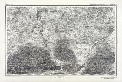 Nicht bekannt Karte von Murnau, 1830 (inkl. Laminierung)