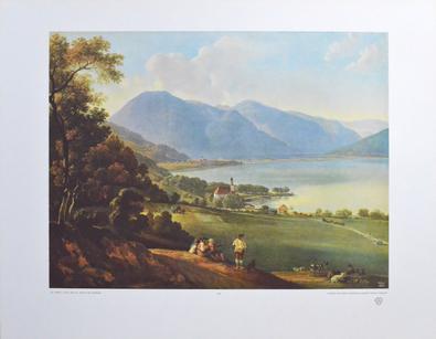 Johann Georg von Dillis Ansicht des Tegernsees