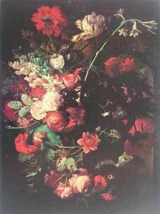 Jan van Huysum Blumen in einer Vase auf einem Sockel