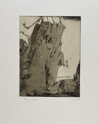 Horst Janssen Fels und Wurm, 1970