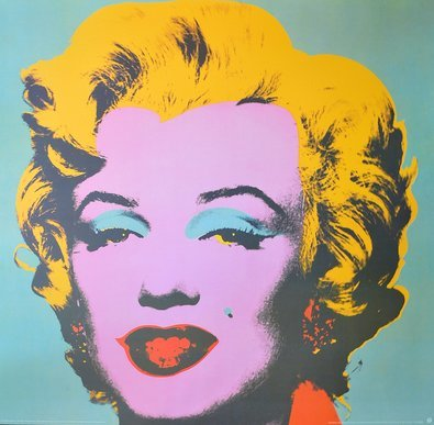 Andy Warhol Marilyn, turquoise ( gross )